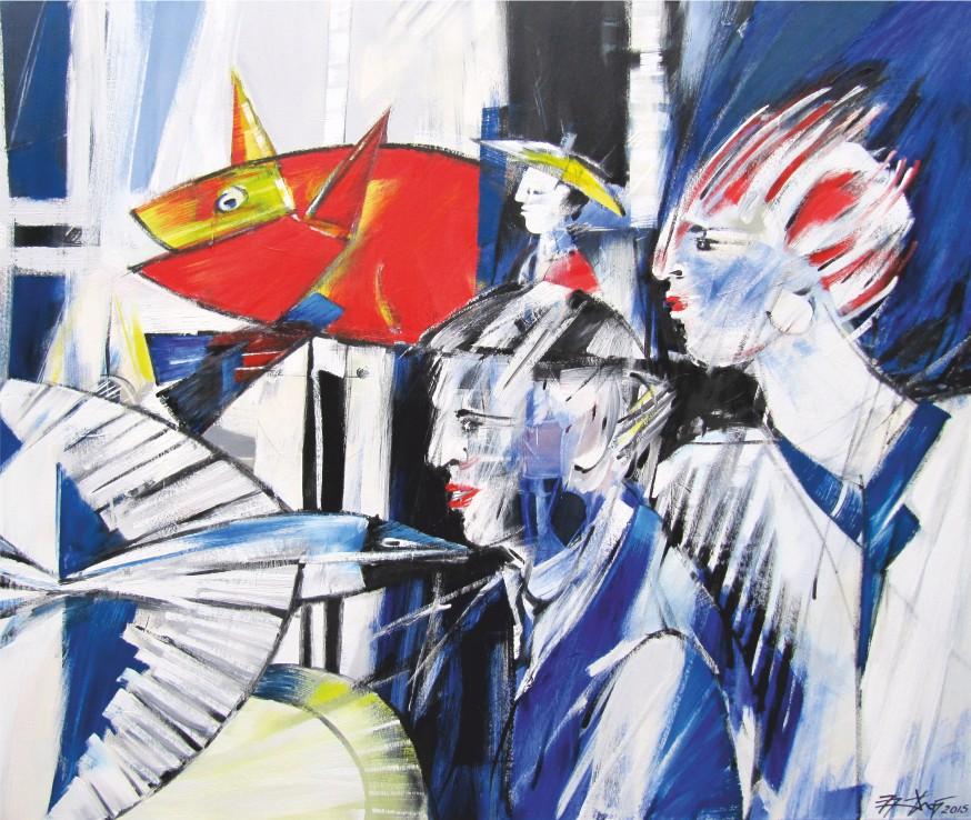 Zirkus 1 - Ölfarbe, Leinwand - 2015 - 100 x 120 cm