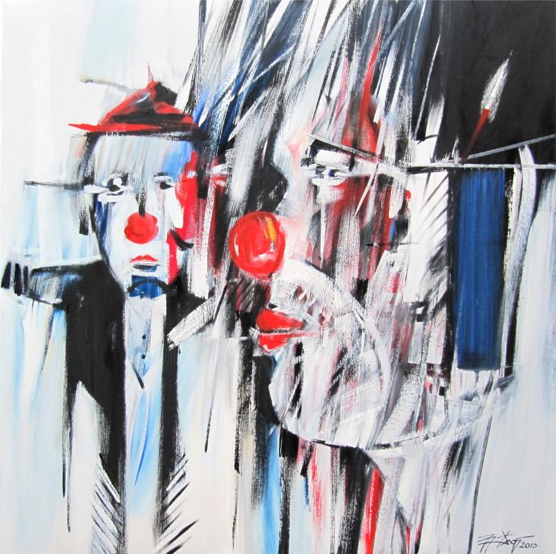 Zirkus 2 - Ölfarbe, Leinwand - 2015 - 100 x 100 cm